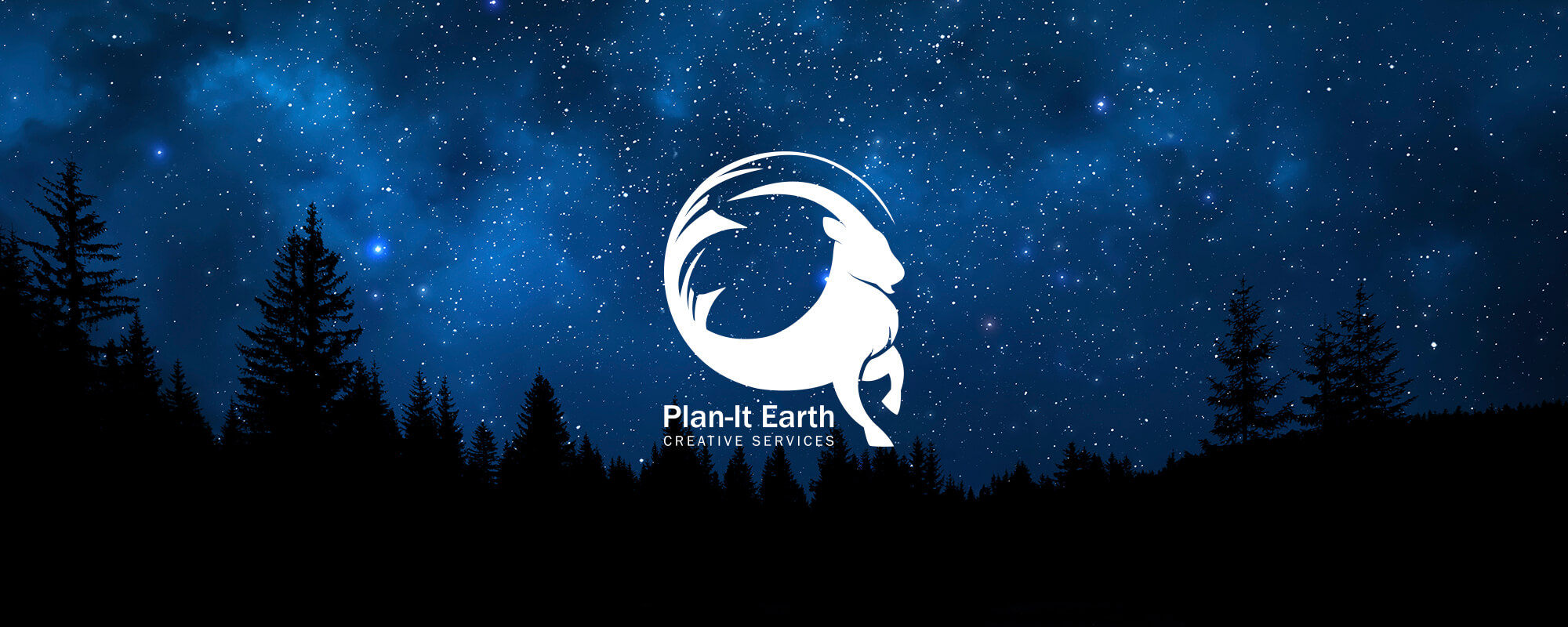 Plan-It Earth Logo on a Starry Night Background